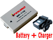 1500mAh BP-110 Replacement Battery + Charger for Canon HF R20 R21 R26 R28 R200 R206 Camcorders