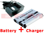 1000mAh GB-10 Replacement Battery + Charger for Sea and Sea DX-GE5 Underwater Digital Cameras